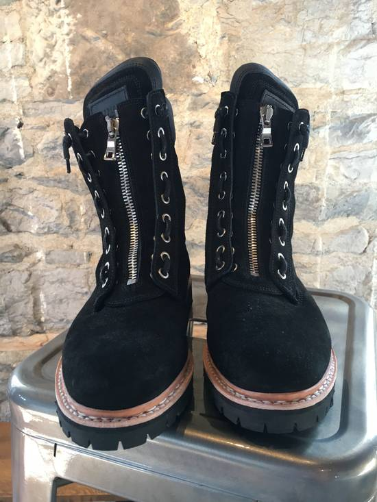 Balmain Balmain Black Suede Combat Boots Size US 8 / EU 41 - 1