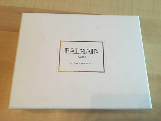 Balmain BALMAIN FW16 Red Velvet & Leather Belt Size 34 - 3