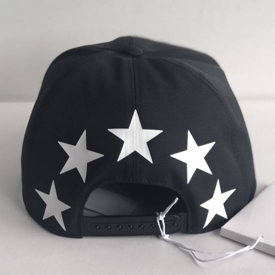 Givenchy star print cotton baseball hat black Size ONE SIZE - 3