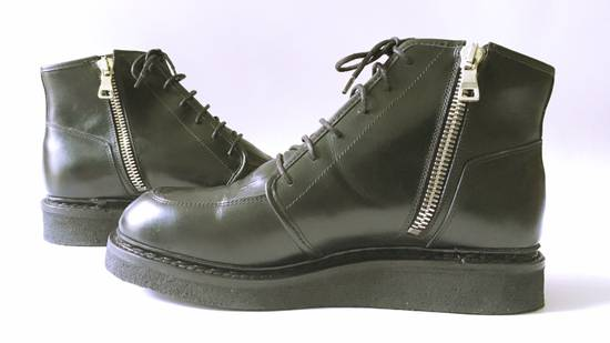 Balmain FINAL DROP Creepers - Crepe Wedge Sole - Platform - Croco Leather Size US 9 / EU 42