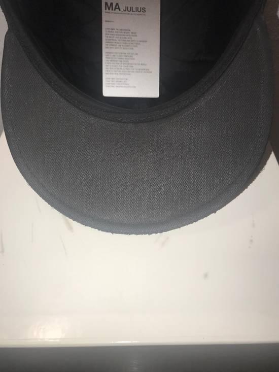 Julius MA_ JULIUS ULTRA RARE BLACK COATED LAMB SKIN LEATHER BASEBALL CAP HAT Size ONE SIZE - 10