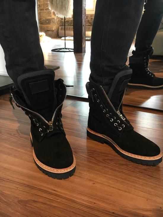 Balmain Balmain Black Suede Combat Boots Size US 8 / EU 41 - 6
