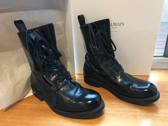 Balmain Giuseppe Zanotti double zippers leather boots Size US 10 / EU 43 - 4
