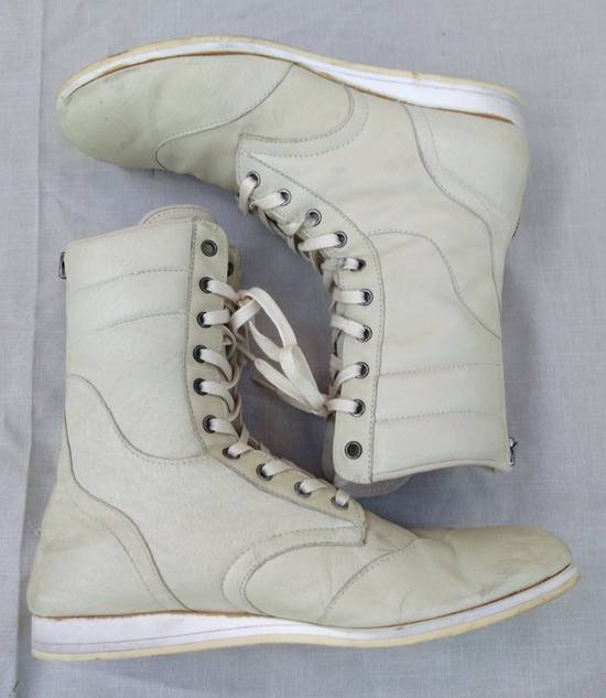 Julius Backzip White Pigskin Boxing Boots Size US 9 / EU 42 - 3