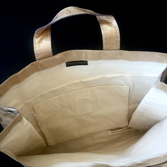 Comme des Garcons Brown Paper & Plastic Logo Tote Bag NWT Size ONE SIZE - 8