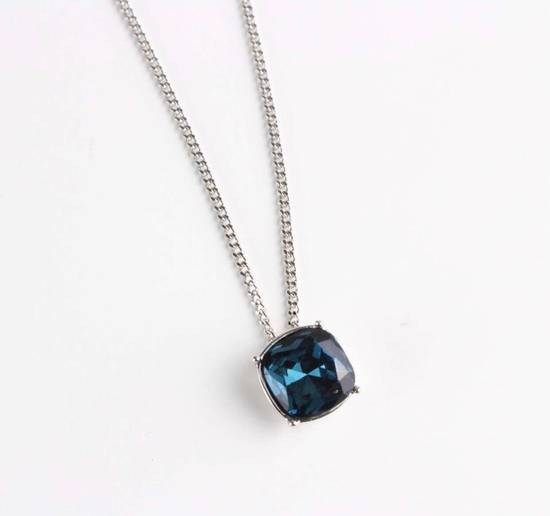 Givenchy Givenchy Blue Crystal Silver Necklace Diamond Chain Size ONE SIZE - 1