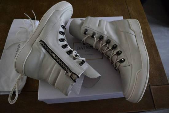 Balmain Balmain Authentic $1150 Leather White High Top Sneakers Size 11 Brand New Size US 11 / EU 44