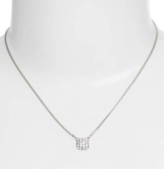 Givenchy Givenchy Silver Chain Crystal Pendant Necklace Diamonds Size ONE SIZE - 1
