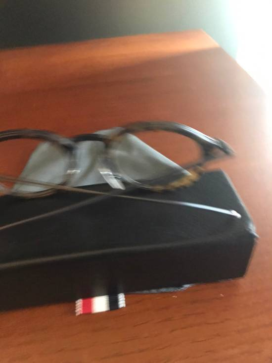 Thom Browne Tortoise Shell Round Frames Size ONE SIZE - 2