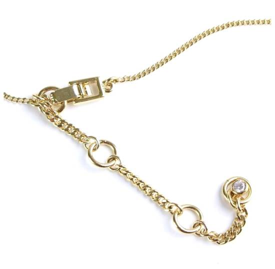 Givenchy Givenchy Black Crystal Pendant Gold Tone Necklace Chain Size ONE SIZE - 2