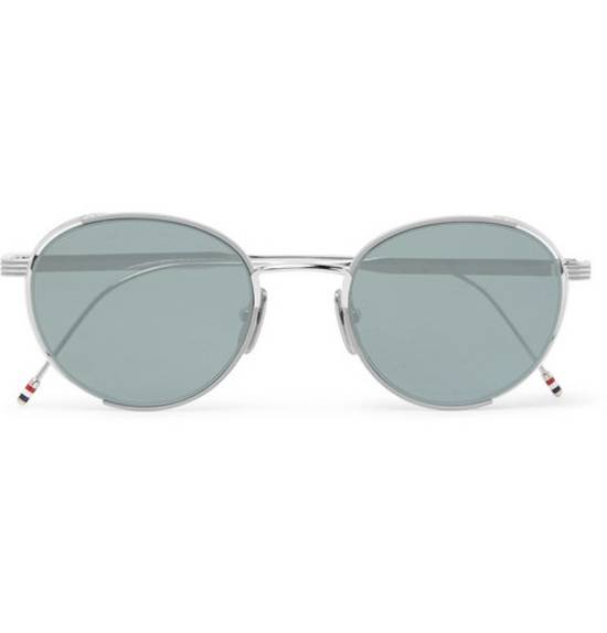 Thom Browne Thom Browne Round-Frame Silver Tone Sunglasses made in japan blue lenses 100 UV Size ONE SIZE