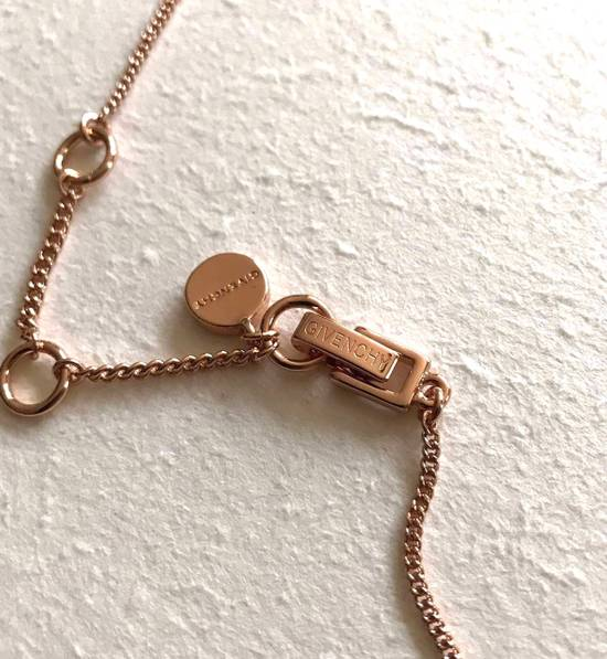 Givenchy Givenchy Crystal Pendant Rose Gold Tone Necklace Diamond Chain Size ONE SIZE - 1