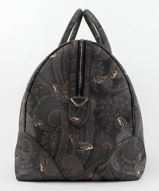 Givenchy Men's Gray/Black Leather Paisley Weekender Bag Size ONE SIZE - 2