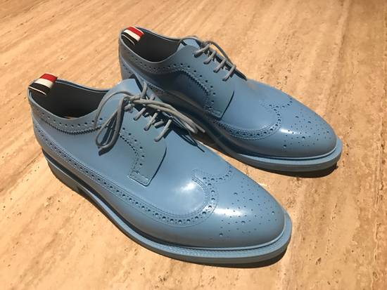 Thom Browne $1,424 patent rubber baby blue shoes Size US 9 / EU 42 - 1