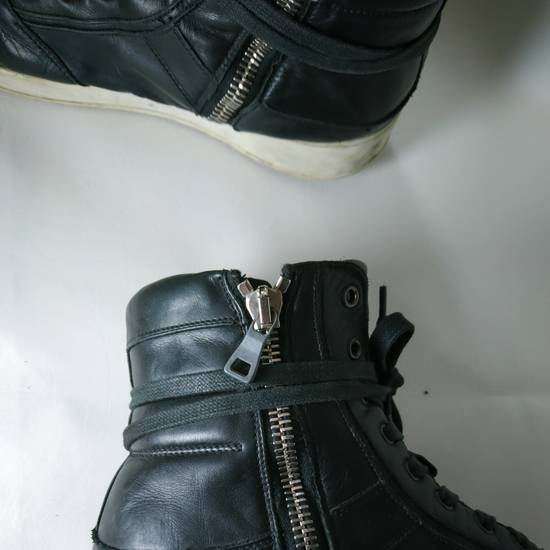Balmain Black Leather Balmain Baskets Size US 9.5 / EU 42-43 - 1