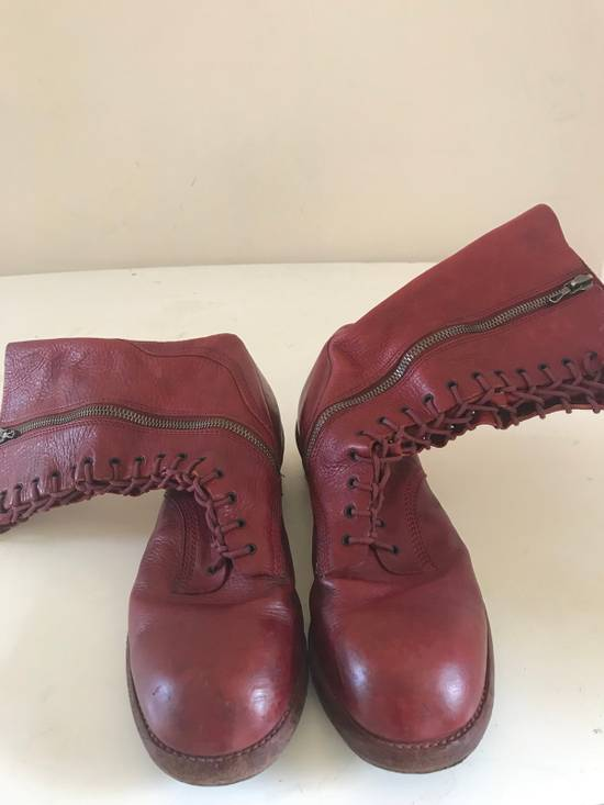 Julius AW09 blood high cut side zips boots Size US 10 / EU 43
