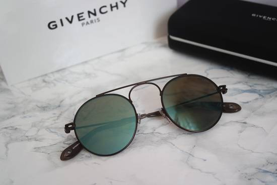 Givenchy NEW Givenchy 7054/S Bronze Blue Mirrored Round Sunglasses Size ONE SIZE