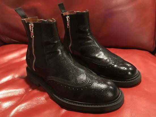 Givenchy Double Zip Wingtip Chelsea Boots Size US 9.5 / EU 42-43 - 1