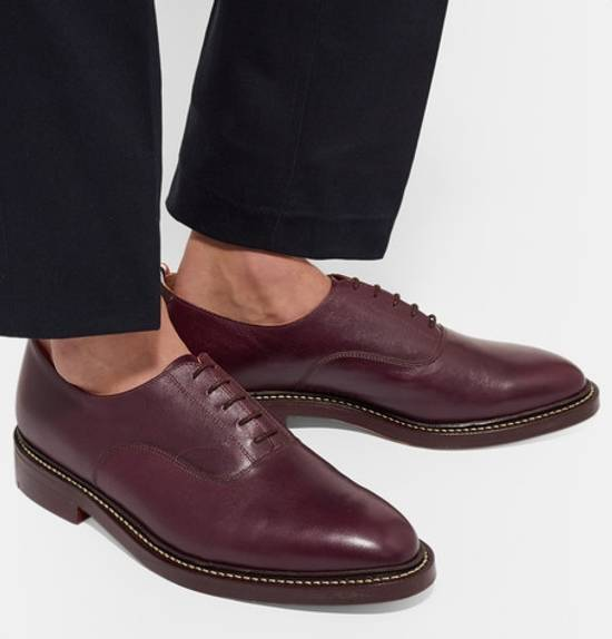 Thom Browne burgundy LEATHER OXFORD SHOES Size US 12 / EU 45 - 3