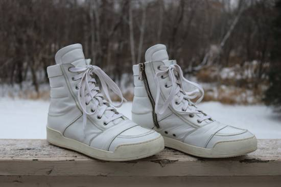 Balmain White Leather High Top Size US 10 / EU 43