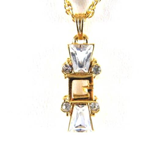 Givenchy Givenchy G Pendant Diamond Necklace Crystal Charm Chain Vintage Size ONE SIZE - 1