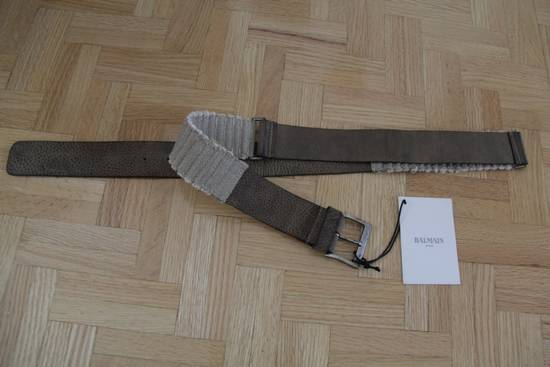 Balmain Size 95/38 - Leather / Fabric Belt Size 38 - 3