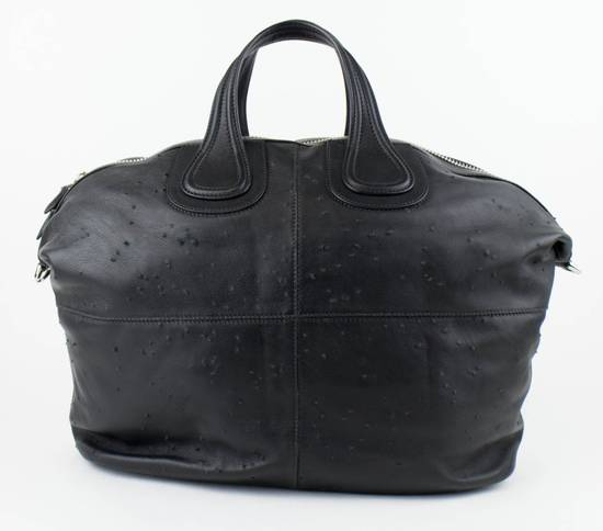 Givenchy Men's Black Leather Large Nightingale Tote Carry On Bag Size ONE SIZE - 1