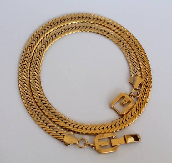 Givenchy Gold Plated Herringbone Chain Size ONE SIZE - 3