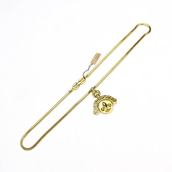 """Givenchy 31"""" Gold Fleur de Lis Pendant Chain Necklace NWT Size ONE SIZE - 3"""