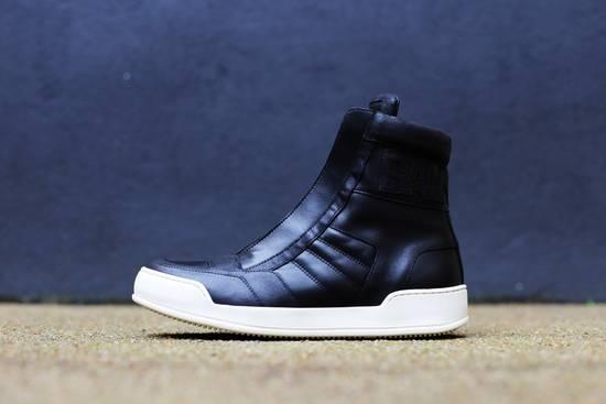 Balmain Black Leather Sneakers Size Us10 Eu43 Size US 10 / EU 43 - 3