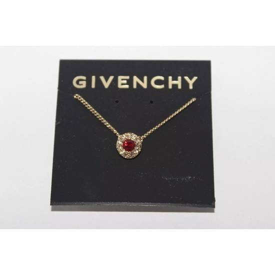 Givenchy Red Crystal Pendant Necklace Size ONE SIZE - 1