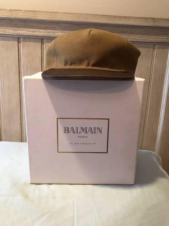 Balmain Balmain Paris Hat Marron Brown 100% Authentic Size Medium Size ONE SIZE