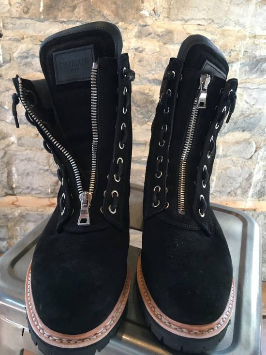Balmain Balmain Black Suede Combat Boots Size US 8 / EU 41 - 3