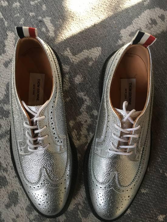 Thom Browne Thom Browne Silver Metallic Brogues Size US 8 / EU 41 - 2