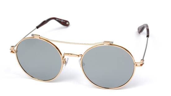Givenchy NEW Givenchy 7079/S Gold Metal Silver Mirrored Round Sunglasses Size ONE SIZE