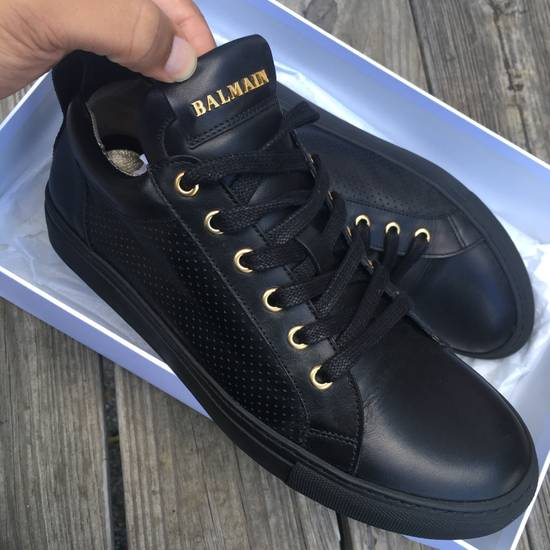 Balmain Back Leather Lowtop Sneaker Size US 8 / EU 41