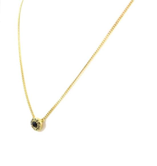 Givenchy Black Crystal Pendant Givenchy Gold Chain Necklace Size ONE SIZE - 1