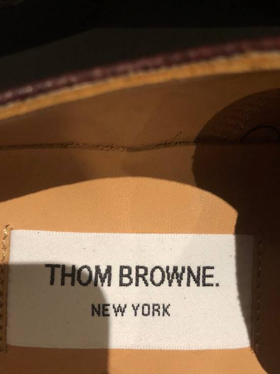 Thom Browne Brown Brogues with Leather Sole in Pebble Grain Size US 7 / EU 40 - 3