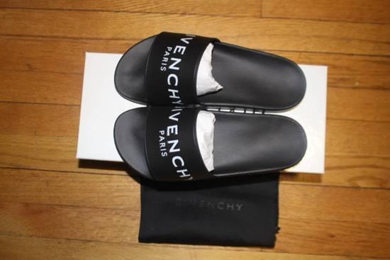 Givenchy Slide Flat Sandal Black Size US 6 / EU 39 - 1