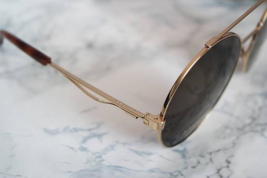 Givenchy NEW Givenchy 7048/S Oversized Round Aviator Sunglasses in Gold/Brown Size ONE SIZE - 5