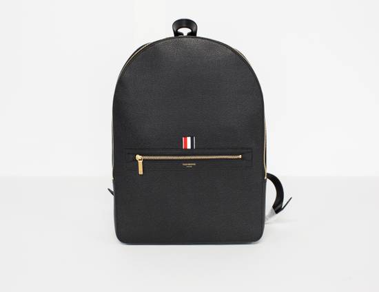 Thom Browne Classic backpack in black pebble grain leather Size ONE SIZE