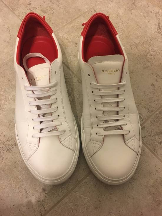 Givenchy Givenchy Red & White Urban Knots Sneakers Size US 11 / EU 44 - 1