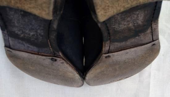 Julius Black Reversed Leather Backzip Combat Boots Size US 11 / EU 44 - 12