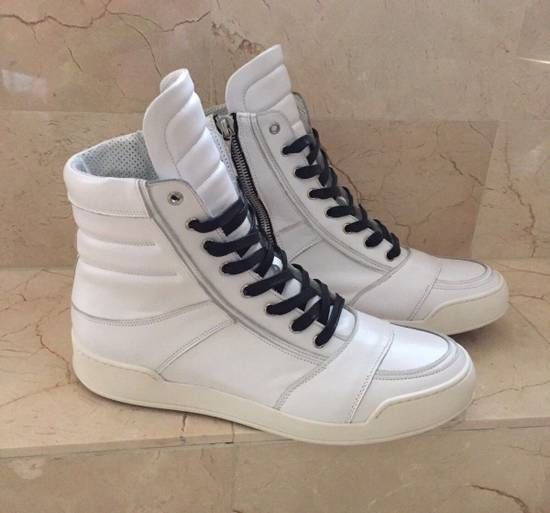 Balmain BALMAIN White Leather High Top Sneakers 100% Authentic Size 45 US 12 Size US 12 / EU 45
