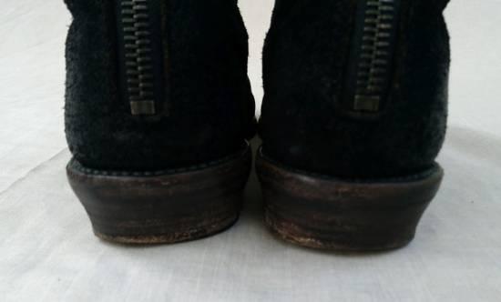 Julius Black Reversed Leather Backzip Combat Boots Size US 11 / EU 44 - 9