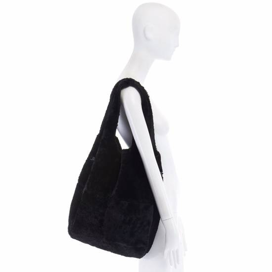 Givenchy GIVENCHY TISCI black reversible leather shearling fur oversize hobo shoulder bag Size ONE SIZE - 1