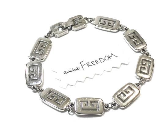 Givenchy Silver Logo Bracelet Size ONE SIZE - 3