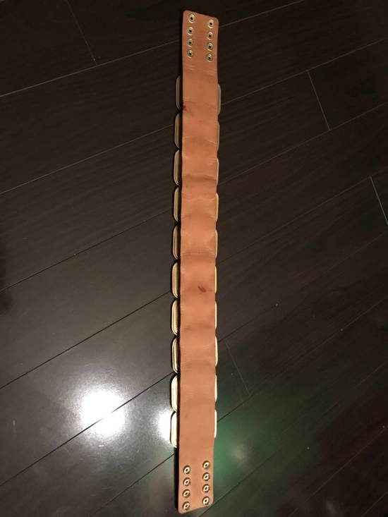 Balmain Laminated Leather And Gold Brass Statement Belt Size 30 - 7