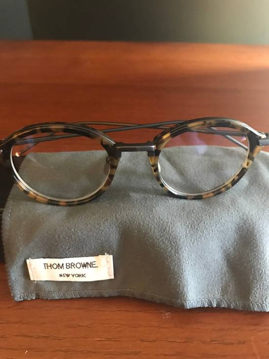 Thom Browne Tortoise Shell Round Frames Size ONE SIZE - 3