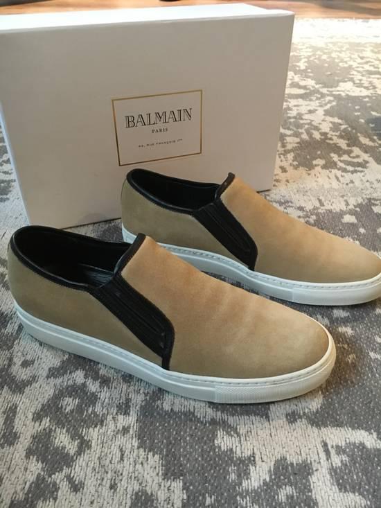 Balmain Balmain Beige Suede Slip On Sneakers Size US 9 / EU 42